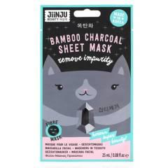JIINJU BEAUTY - Mascarilla facial carbón de bambú 25 ml