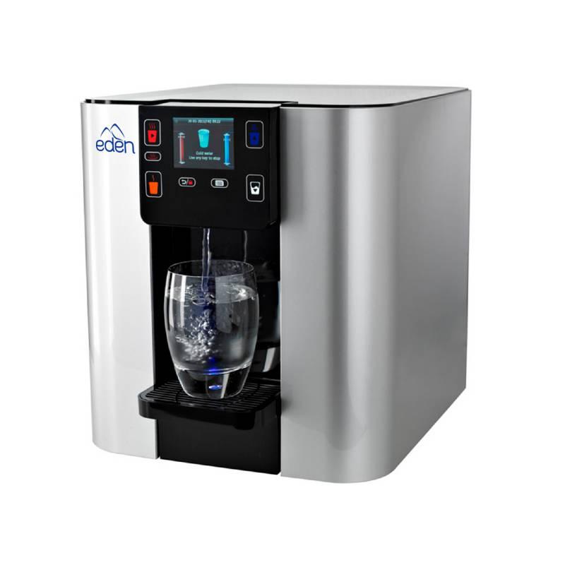 EDEN - Dispensador y Filtro de Agua Premium Edén Agua Pure Plateado