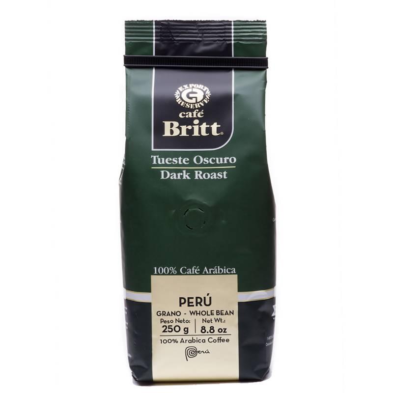 BRITT - Café en Grano Tostado Oscuro 250 Gr