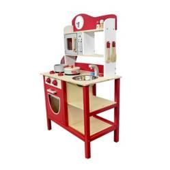 GAMEPOWER - Set Cocina de Madera Roja