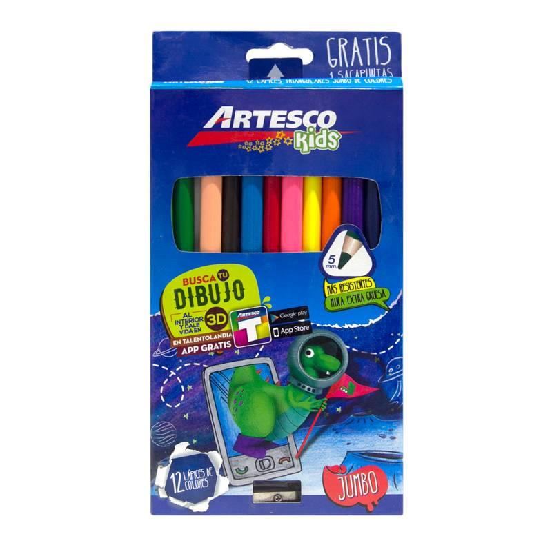 ARTESCO - Colores Jumbo x 12 + Sacapuntas