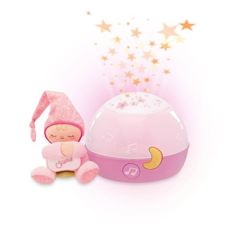 CHICCO - Proyector Buenas Noches Estrella Rosa