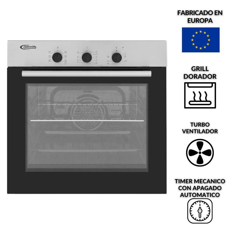 KLIMATIC - Horno empotrable eléctrico 60 L HKT600-PIX
