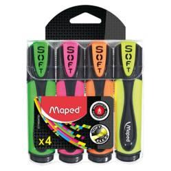 MAPED - Resaltadores Fluo Soft x 4