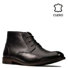 CLARKS - Botines Hombre Casual Flow Top Black Leather