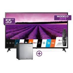 """Smart TV 4K UHD 55"""" 55UM7100 + Control Magic + Mini Friobar ERD50G2HPI"""