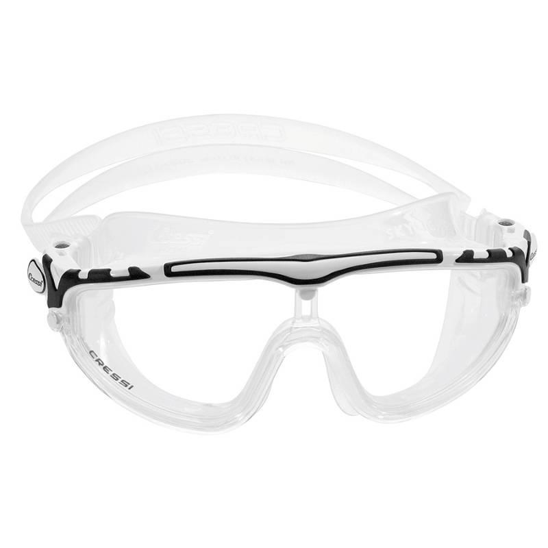 CRESSI - Lentes de natación Skylight transp blanconegro