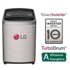 LG - Lavadora LG Carga Superior Smart Inverter con TurboDrum WT19VSB 19 Kg Plateada