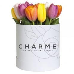 CHARME - Sombrerera de 10 tulipanes