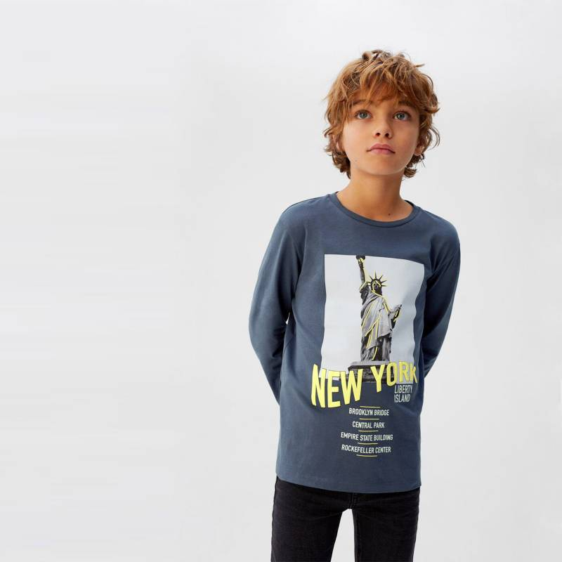 MANGO KIDS - Camiseta Manga Larga New Algodón Niño