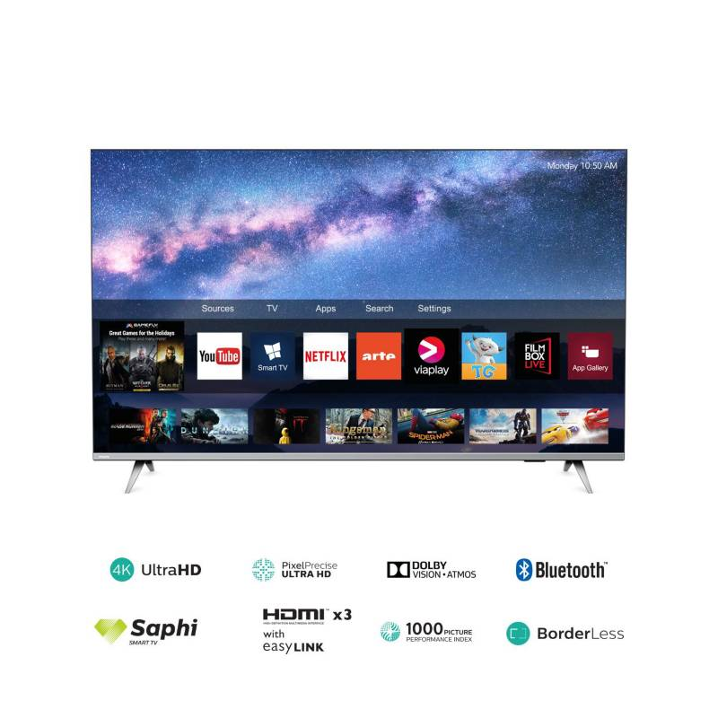 "PHILIPS - Televisor 50"" 4K Ultra HD Smart TV 50PUD6654"