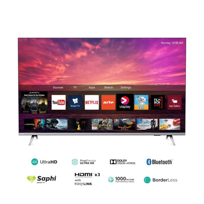 "PHILIPS - Televisor 58"" 4K Ultra HD Smart TV 58PUD6654"