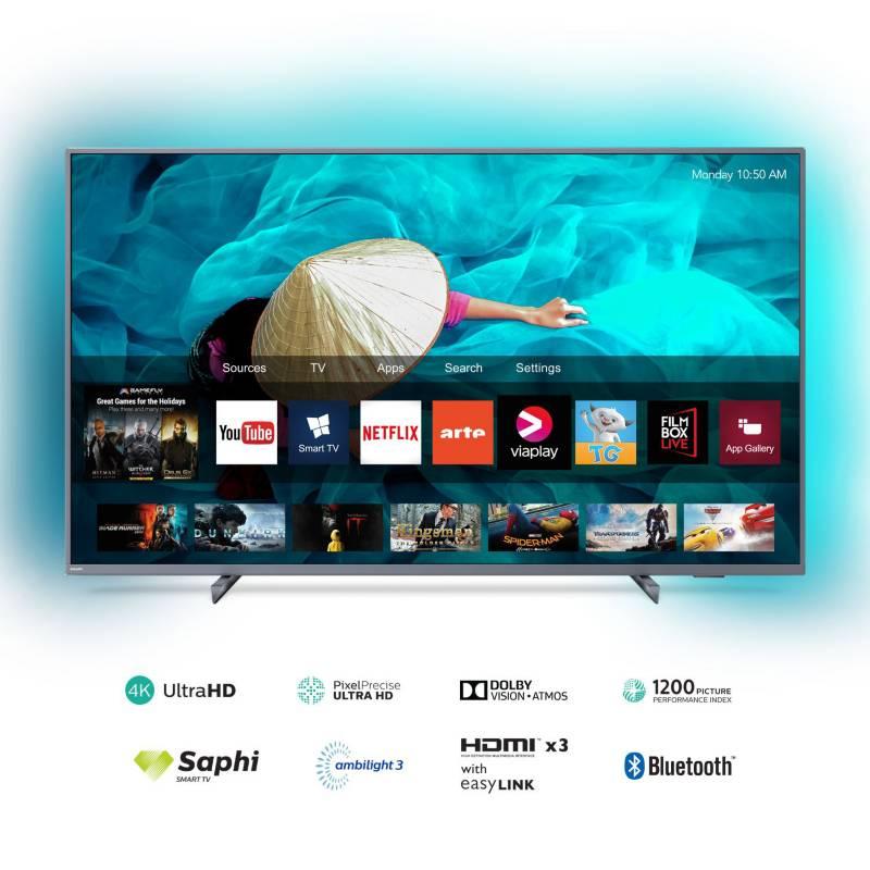 "PHILIPS - Televisor 65"" AMBILIGHT 4K Ultra HD Smart TV 65PUD6794"