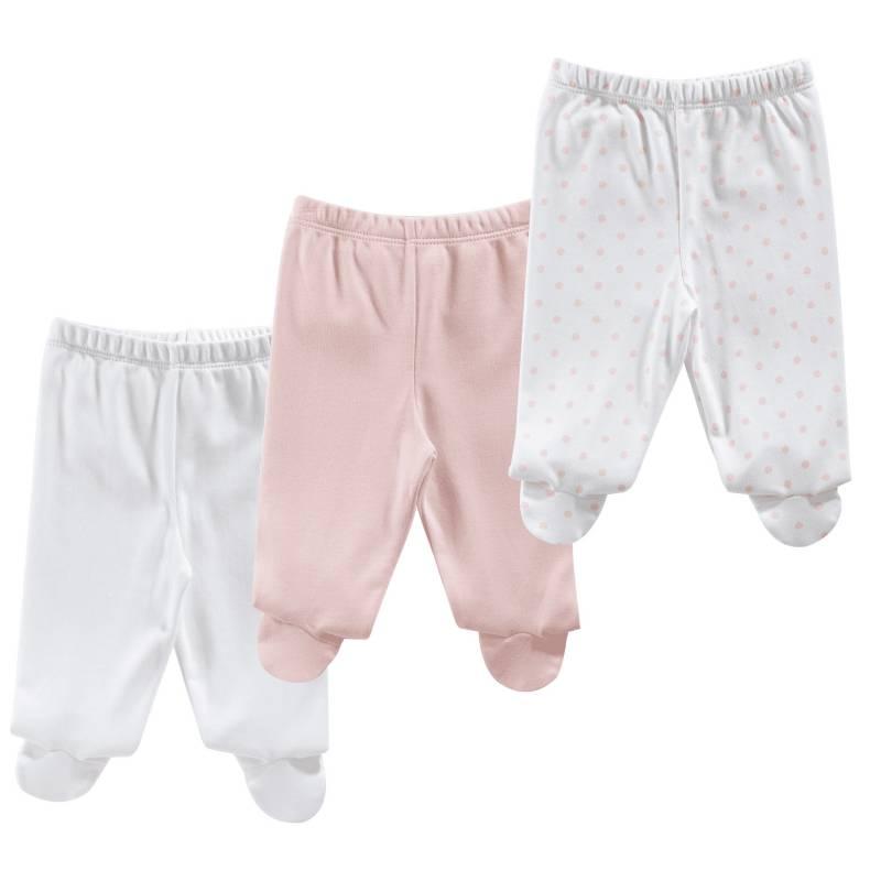BABY CLUB CHIC - Pantalón Pack X3 Algodón Bebé Niña