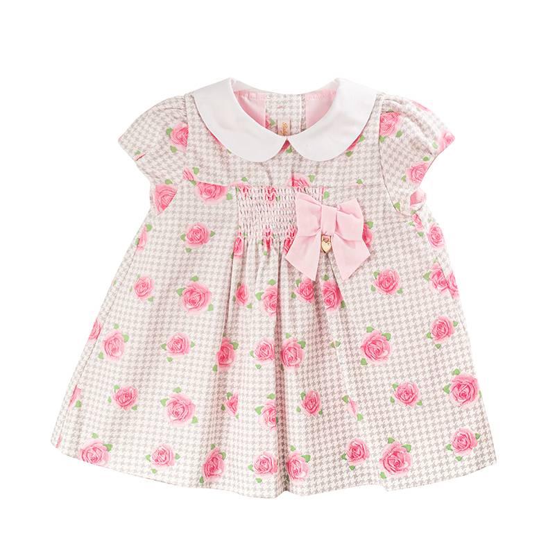 BABY CLUB CHIC - Vestido Estampado con Cuello Bebé Y Aplicación