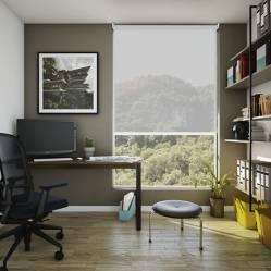 BASEMENT HOME - Cortina Roller Screen 10% Gris 130 x 230 cm