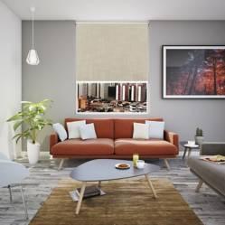 BASEMENT HOME - Cortina Roller Decorativa Máncora  Lino 100 x 50 cm