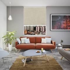 BASEMENT HOME - Cortina Roller Decorativa Máncora  Lino 130 x 50 cm