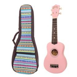 EPIC -  Ukelele Colores Rosado+ Funda Cel