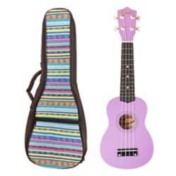 EPIC -  Ukelele Colores Morado Claro+ Funda Cel