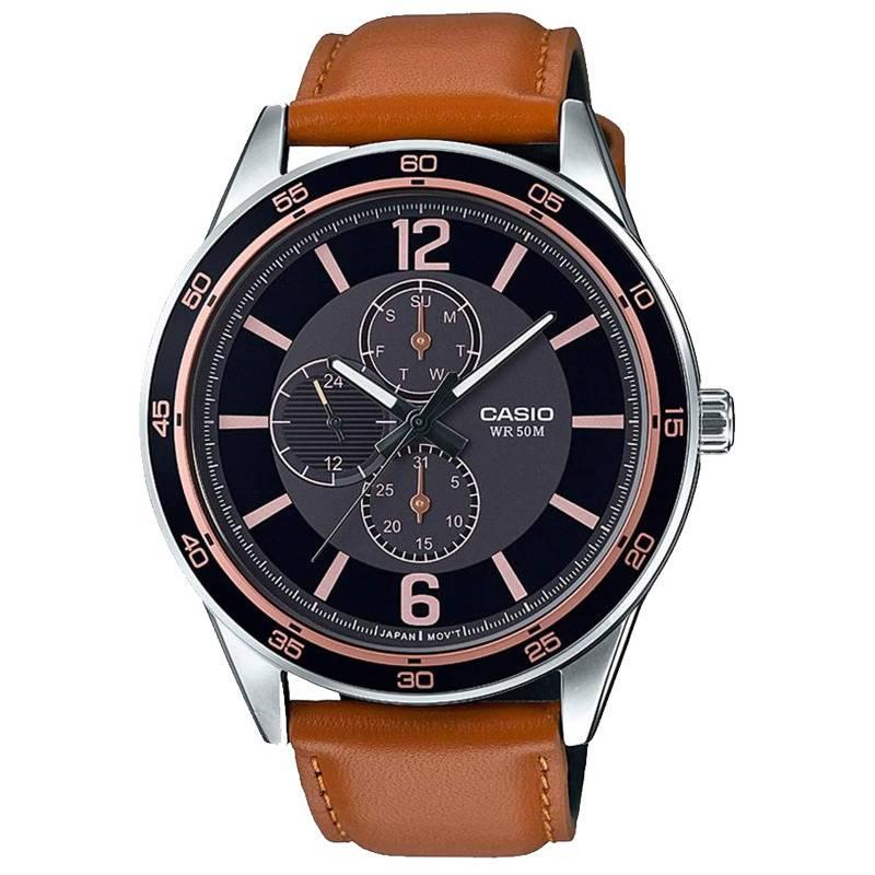 CASIO - Reloj  Cuero Hombre