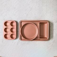 ILKO - Set x 4 Moldes Antiadherentes Rose Gold