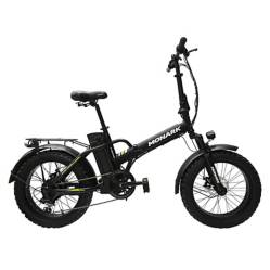 "Monark - Bicicleta Eléctrica Monark E-Motion Aro 20"" Negro Amarillo"
