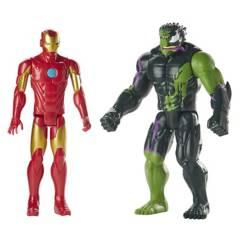 SPIDER-MAN - Figura Titan Hero Iron Man vs. Hulk-Venom