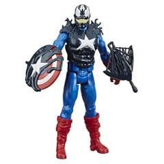 SPIDER-MAN - Figura Titan Hero Capitán América Estilo Venom