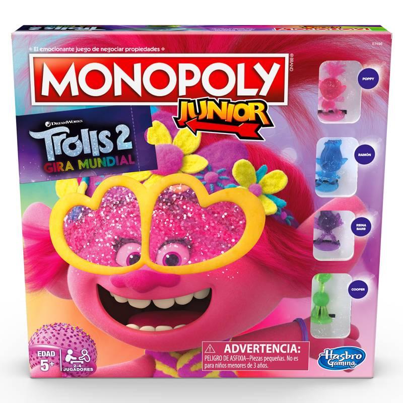 HASBRO GAMES - Monopoly Jr Trolls
