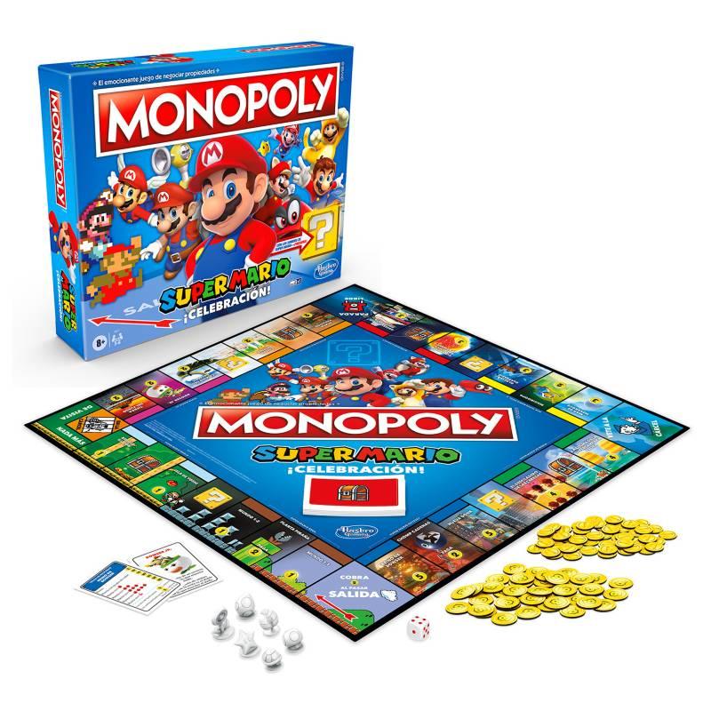 HASBRO GAMES - Juego de Mesa Monopoly Super Mario Celebración
