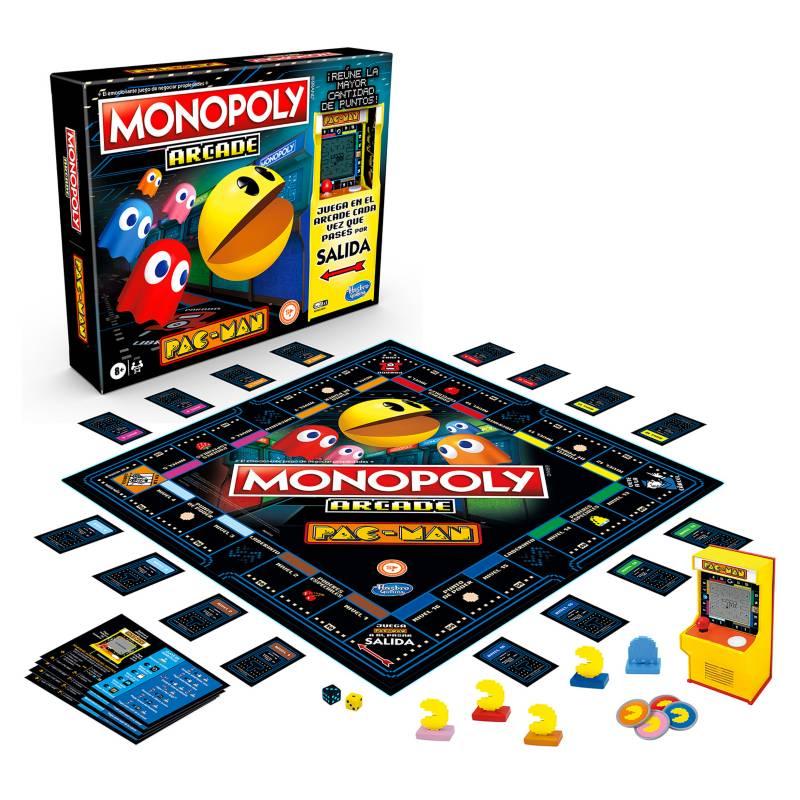 HASBRO GAMES - Juego de Mesa Monopoly Arcade Pac-Man
