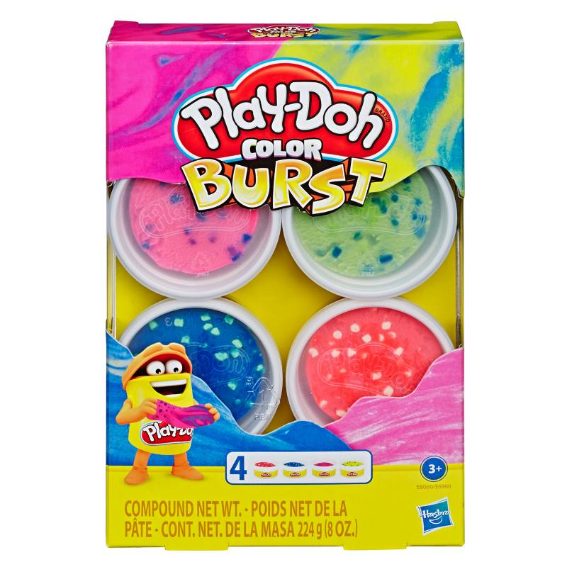 PLAY DOH - 4-Pack Mundo De Texturas Color Burst