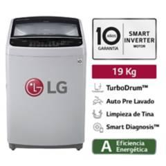 LG - Lavadora LG Carga Superior Smart Inverter con TurboDrum WT19DSB 19 Kg Gris