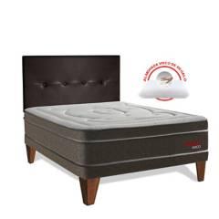 FORLI - Dormitorio Europeo Pocket Visco 2 Plz + 2 Almohadas Viscoelásticas + Protector