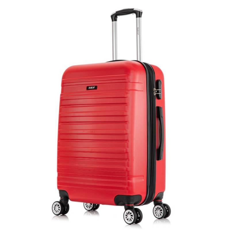 DUKAP - Maletas de viaje  61 Cm 15 Kg Rojo