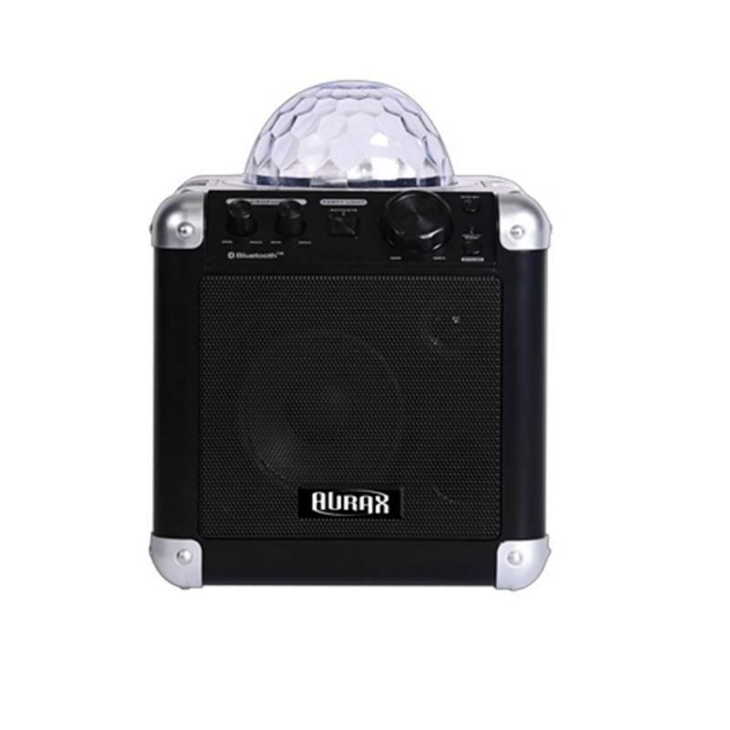 AURAX - At04 Caja Activa Bluetooth Con Luces Karaoke Aurax