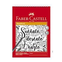 FABER CASTELL - Sketch Book Espiralado Letras x 25 Hojas
