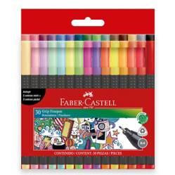 FABER CASTELL - Marcadores Grip Finepen Pet x 30