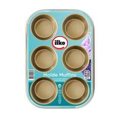 ILKO - Molde 6 Muffins Gold
