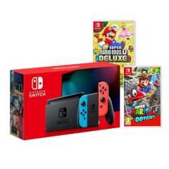 NINTENDO - Consola Nintendo Switch Neon 32GB + 2 juegos