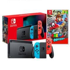 NINTENDO - Consola Switch Neon + Mario Odyssey