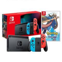 NINTENDO - Consola Nintendo Switch Neon 2019 32GB + Pokemon Espada