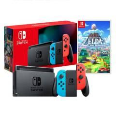 NINTENDO - Consola Nintendo Switch Neon 2019 32GB + The Legends Of Zelda Awakening