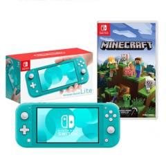 NINTENDO - Consola Nintendo Switch Lite Turquesa + Minecra