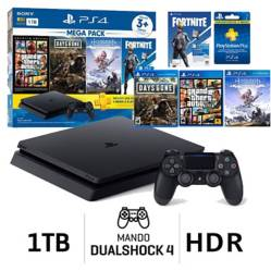SONY - Consola PS4 Slim 1TB Mega Pack 6