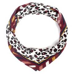 ISADORA - Pañuelo raso plisado animal print