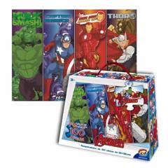 MARVEL - Rompecabezas 100 Pzas Maleta Avengers