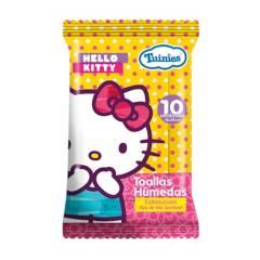 HELLO KITTY - Toallitas Humedas x 10 Unidades