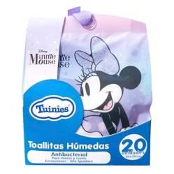 MINNIE - Pack Portable Toallas Húmedas x 20 Unidades